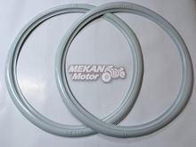 """Picture of FRONT TYRE WHITE HEM SET 18"""" MZ"""