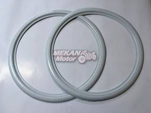 "Picture of REAR TYRE WHITE HEM SET 16"" MZ"